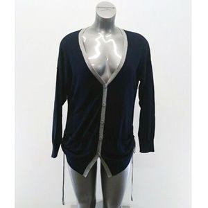 Gap Womens Sweater Blue Button Up Cardigan XL